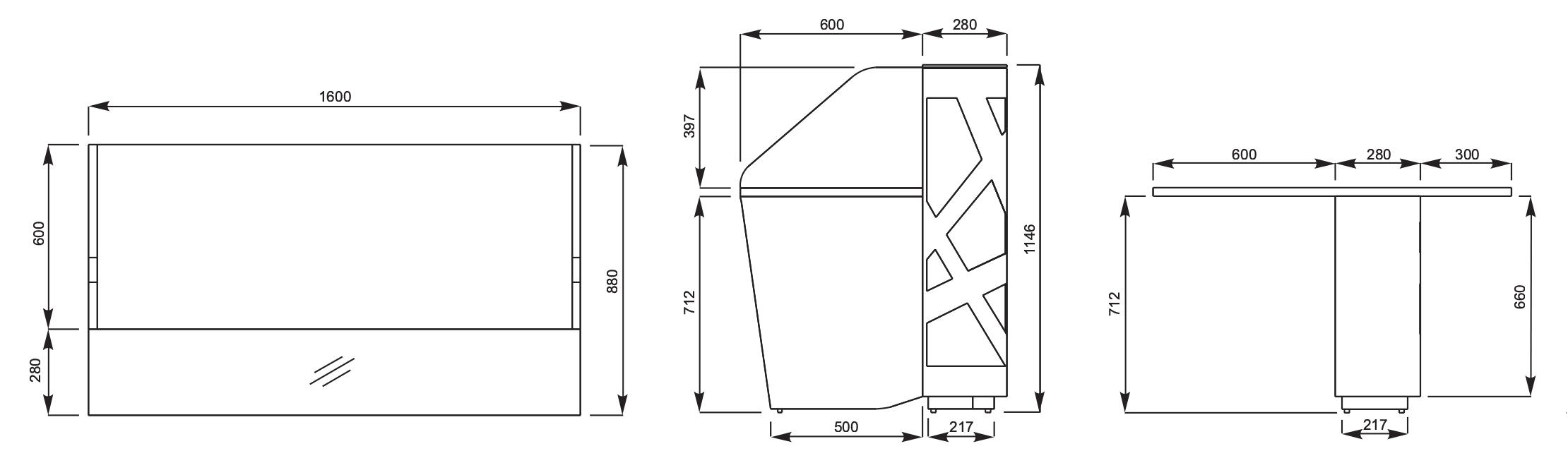 Reception desk dimension homezanin reception desk dimension - Models And Sizes Cityoffice_recepcijas_izmeri_zigzag Zigzag Reception Desks